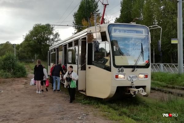 Сейчас трамваи 6-го маршрута ходят из Брагино на«Пятёрку»