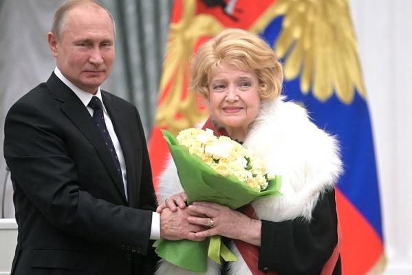 Татьяна Доронина впервые вышла на сцену в Ярославской области