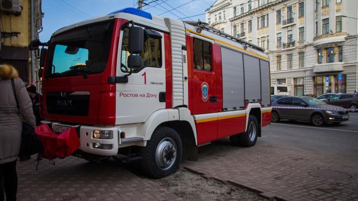 В конноспортивной школе под Таганрогом произошел пожар