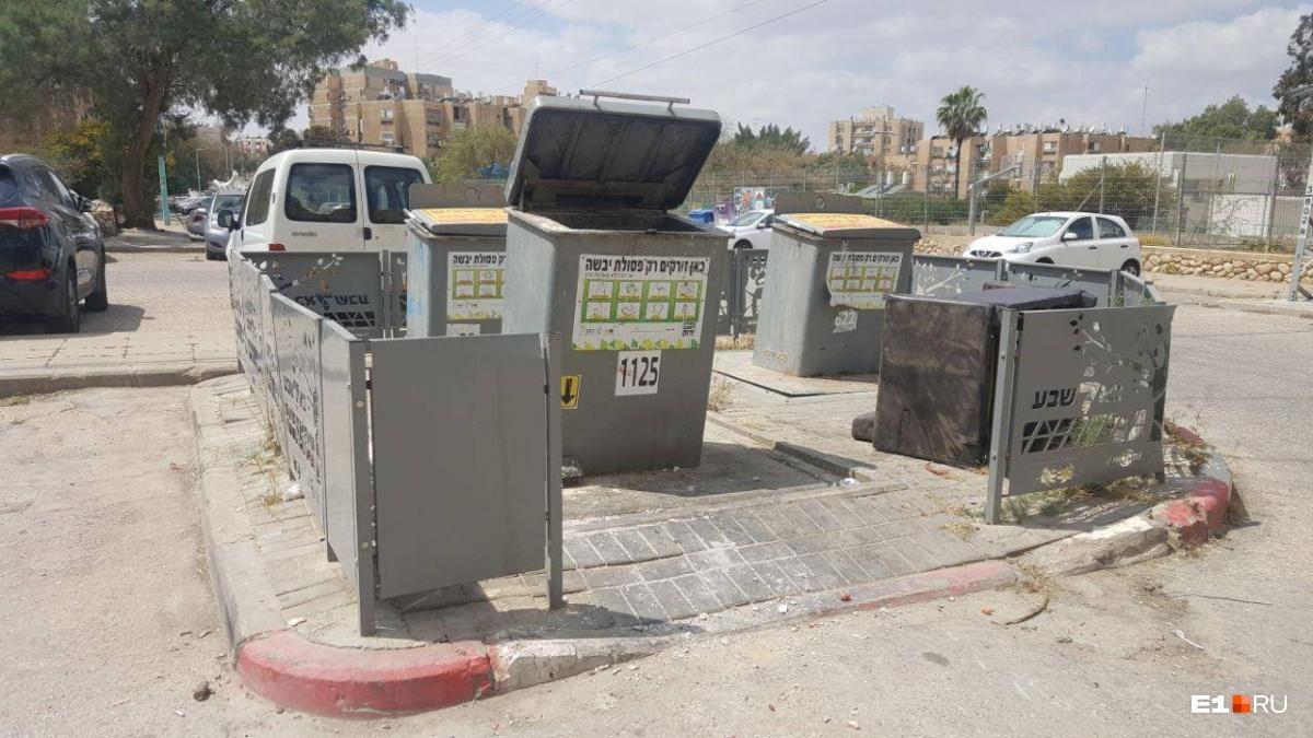 Контейнерная площадка в Израиле