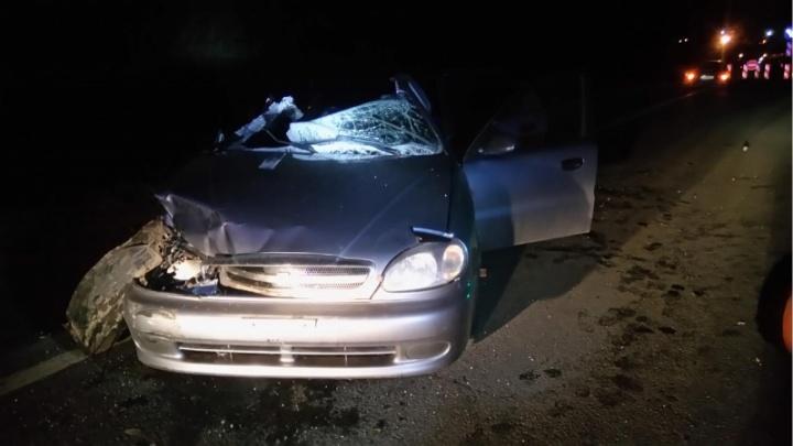 Пьяный лихач погубил своего пассажира: иномарка влетела в стоящее на светофоре авто