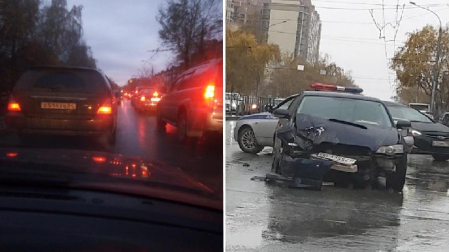 Город разбитых машин: по пути домой новосибирцы массово попадают в ДТП на скользких дорогах