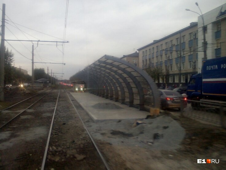 Сегодня на «Калининской» уже останавливались трамваи