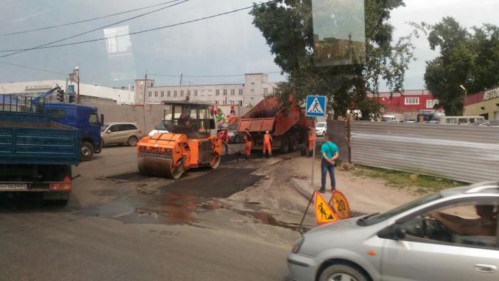 Работы возле ул. Большевистской