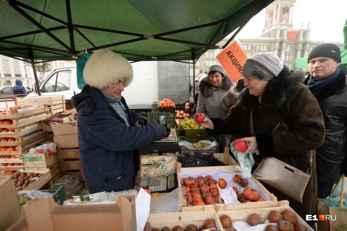 Торговать в центре города приезжают настоящие джигиты