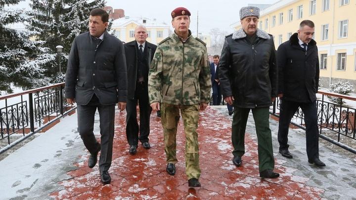 Глава Росгвардии приехал в Екатеринбург проверять систему безопасности к ЧМ по футболу