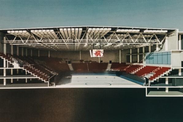 Эскиз нового дворца спорта