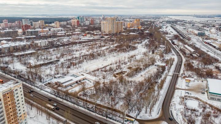 Изучаем пустырь, который власти купили по 615 тысяч за сотку — здесь построят высотки «Пермь-Сити»