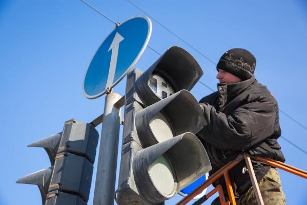 Плановое отключение электричества привело к сбою в работе светофоров
