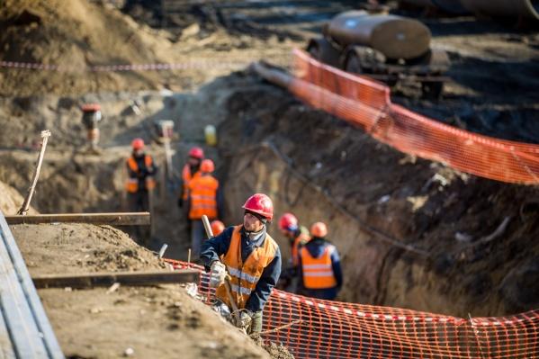 Стройплощадку под строительство моста начали готовить ещё в сентябре