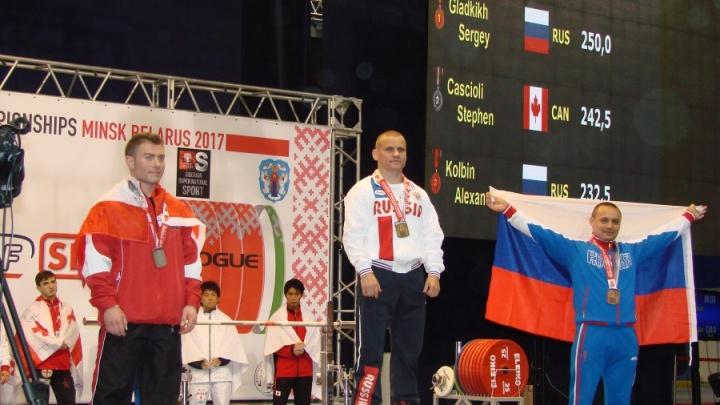 Красноярец поднял 310 килограммов и стал чемпионом мира по пауэрлифтингу