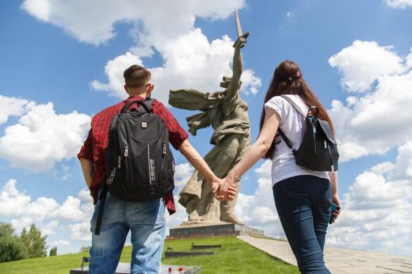 Через Волгоград прошли всего несколько сот туристов