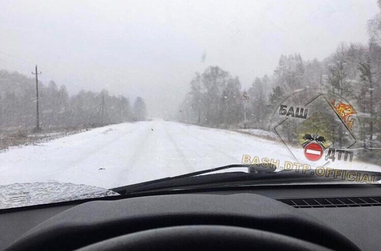 Зима близко: на Башкирию надвигаются белые ходоки — в Абзелиловском районе выпал снег