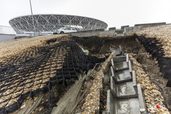 Мэрия: «Размыва склона у стадиона не было»
