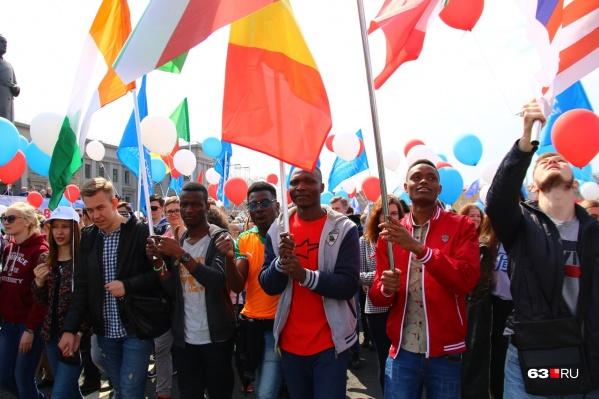 Во время шествия 1 мая по площади пройдут тысячи трудящихся, и не только из России