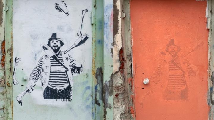 В Перми закрасили стрит-арт художника Ffchw на зоопарке и у завода Шпагина