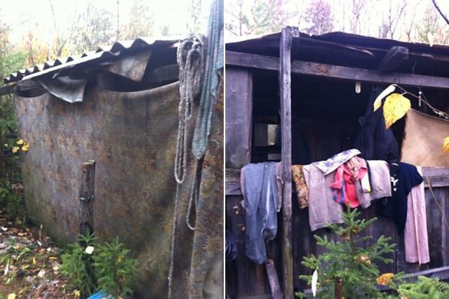 ВКрасноярском крае братья-должники убежали  влес ижили вземлянке