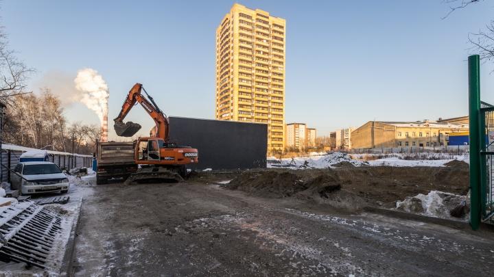Спортцентр возле парка Кирова оказался нерентабелен: его начали превращать в жилой 16-этажный дом