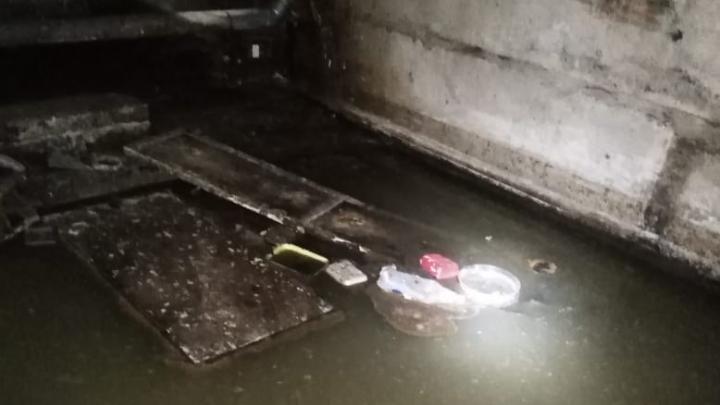 В Уфе подвал Управления архитектуры затопило фекалиями