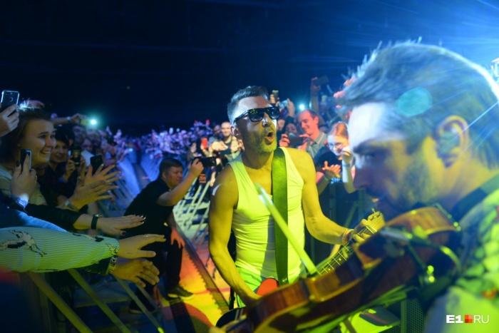 Сергей Шнуров во время концерта в Екатеринбурге в прошлом году
