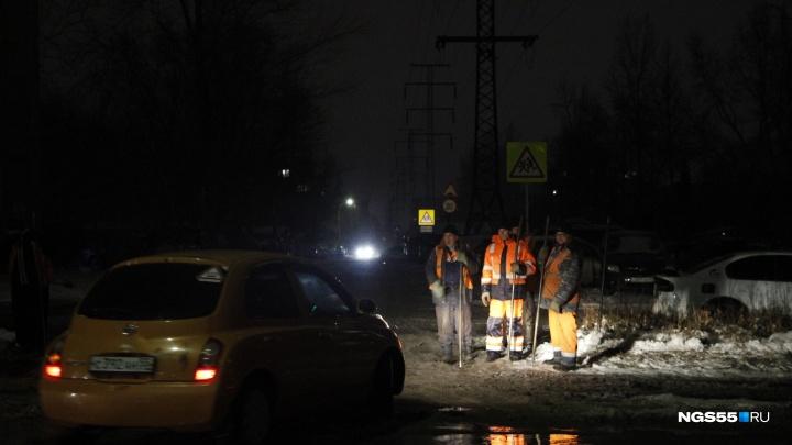 Последствия потопа на улице Лермонтова устранили к 4 часам утра