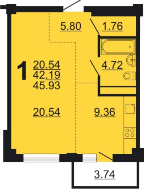 Такую планировку часто выбирают в качестве первой собственной квартиры