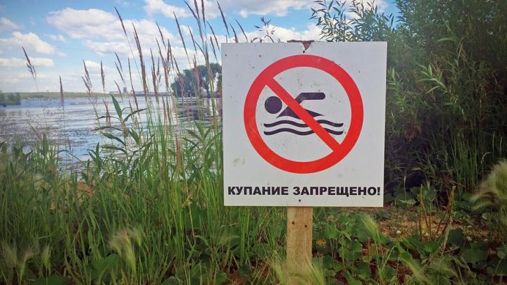 Пляж «Голубые озера» в Кургане закрыли для купания