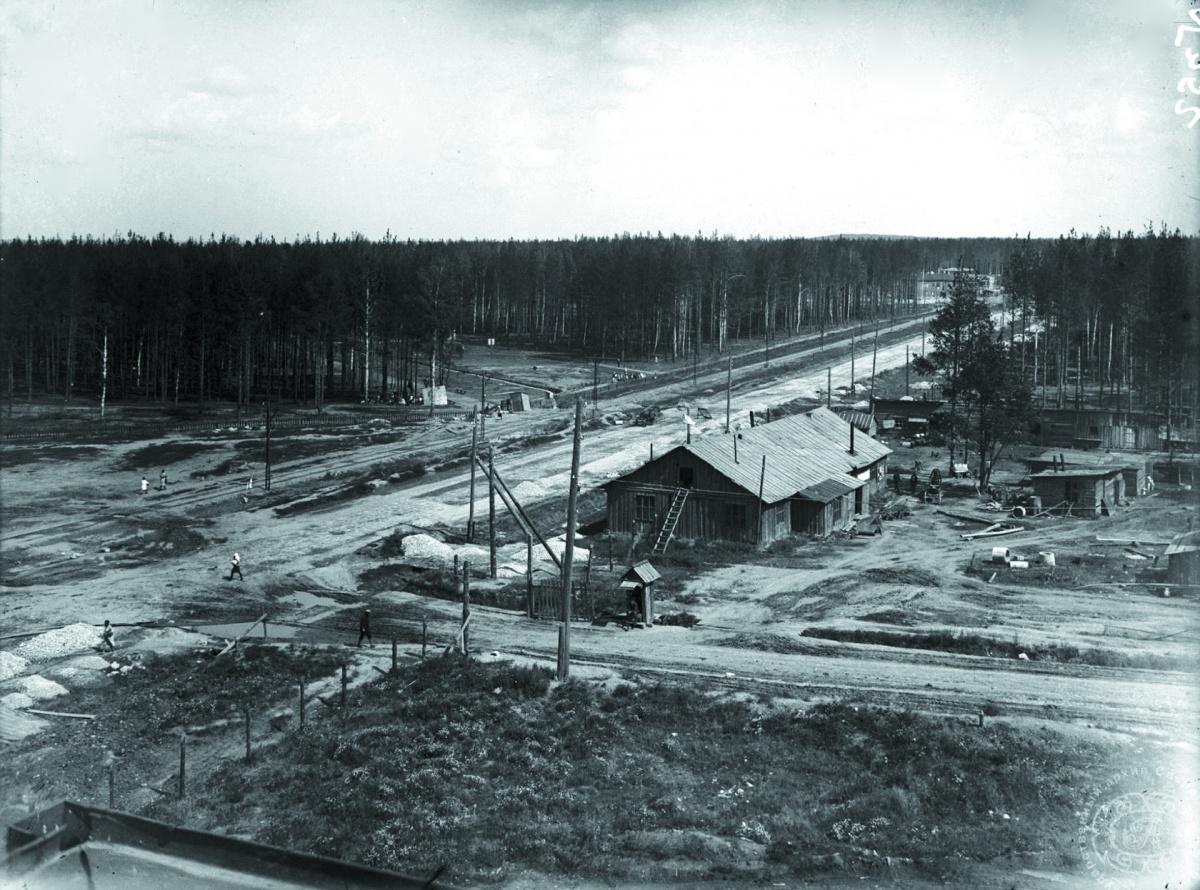 Так выглядела улица Машиностроителей в 1932 году