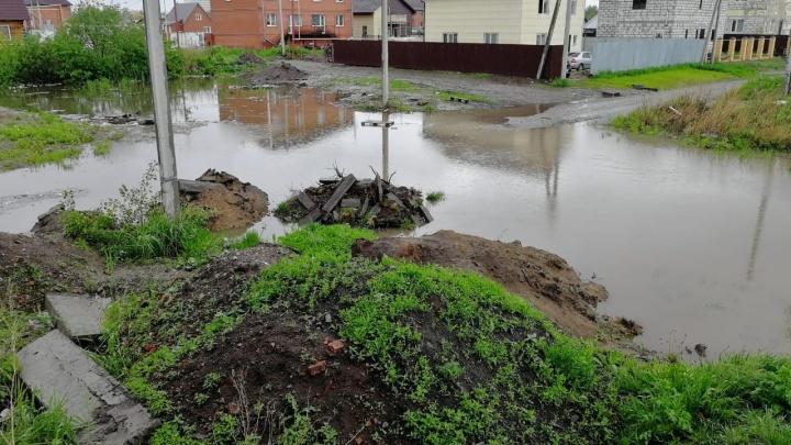 Теперь хоть потоп: власти Новосибирска сделают ливнёвку на затопленных переулках левого берега