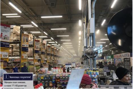 Посетители заметили дым в магазине