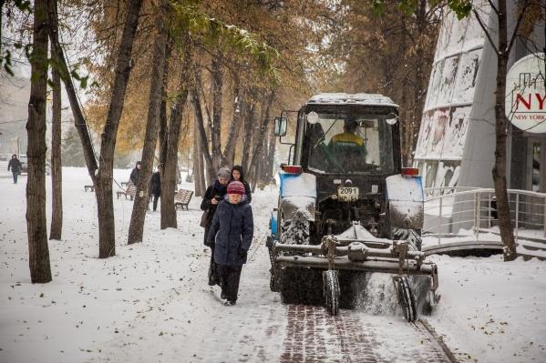 Сократить число техники на дорогах пришлось из-за аномальных морозов