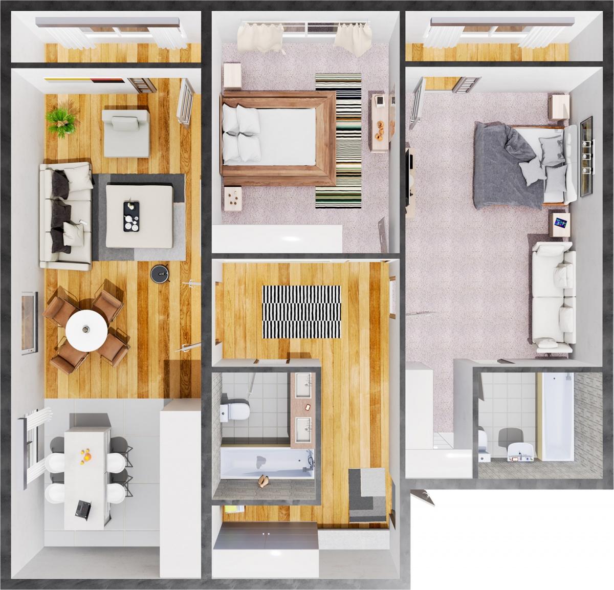 В Clever park рассказали о растущем спросе на готовые квартиры с двумя спальнями и кухней-гостиной
