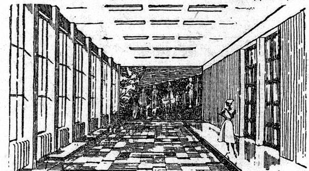 Эскиз одного из залов на седьмом этаже