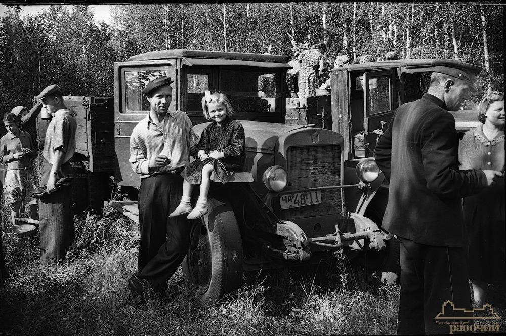 Поездка за грибами на автомашине ЗИС. 1956 год