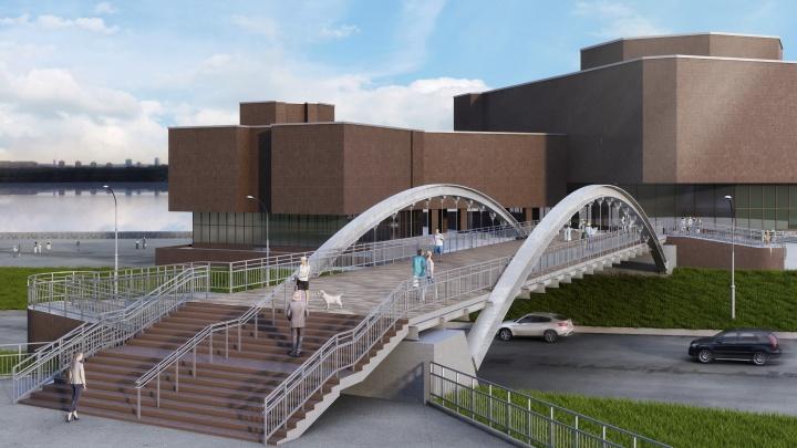 Архитекторы нарисовали макет будущего перехода между БКЗ и Музейным центром