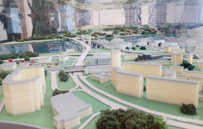 Проект участка четвёртого моста со стороны площади инженера Будагова