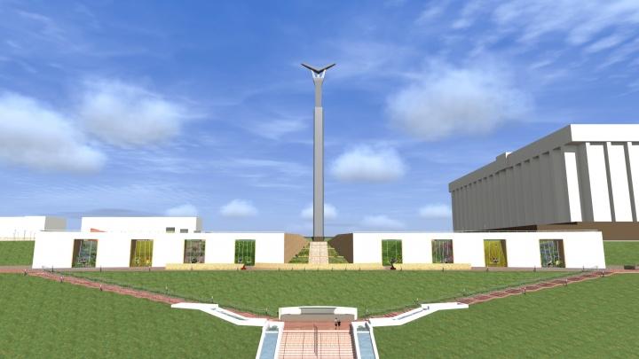 Качели и разнотравье: появилась визуализация возможных изменений склона на площади Славы