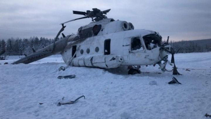 Крушение вертолета в Эвенкии: количество пострадавших увеличилось