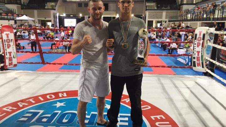Не уступил ни одного раунда: зауралец Альберт Зыков завоевал золото Кубка мира по кикбоксингу
