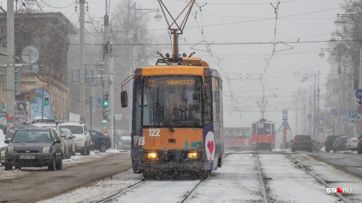 Пермяки смогут разместить свои новогодние пожелания в трамваях