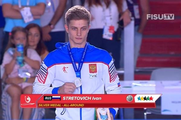 Иван Стретович завоевал свою вторую медаль Универсиады в Италии
