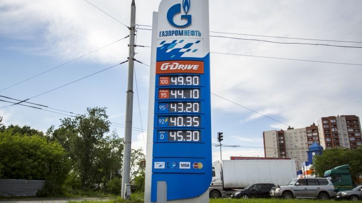 В Новосибирске впервые за полгода подешевел бензин