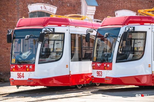 Трехсекционные трамваи закупили для Самары в 2016 году