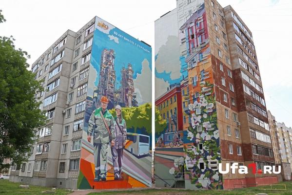 Площадь уличного полотна—свыше тысячи квадратных метров