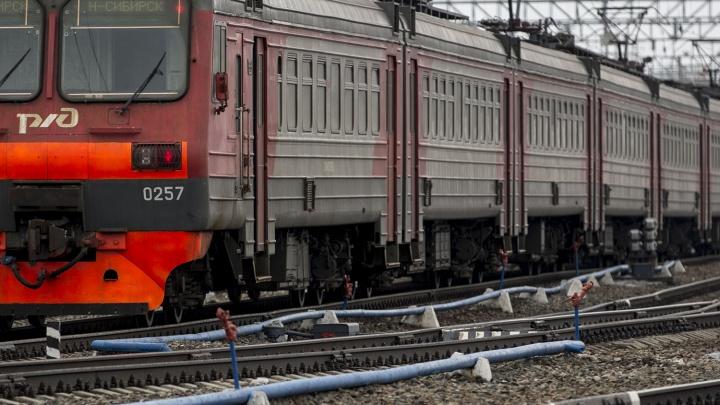 Электричка насмерть сбила мужчину под Новосибирском
