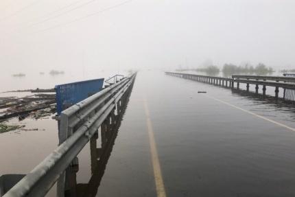 Трасса затоплена на двух участках