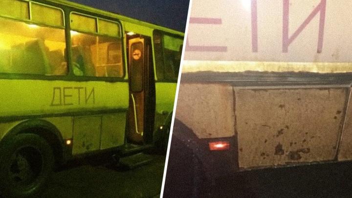 «Кто-то в больницу обращался? Тогда о чём речь»: ответ перевозчика на загоревшийся школьный автобус