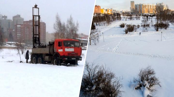 Котлован под мостом: новосибирцы заметили строительную технику перед«Сибирь-Хоккайдо»