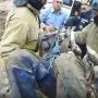 Спасение строителя из бетономешалки засняли на видео