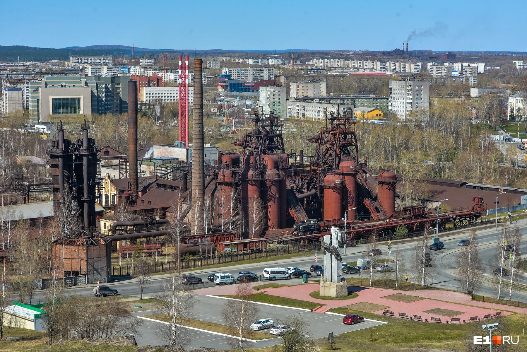 Вид на музей-завод с высоты